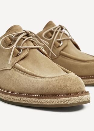 Туфли из натуральной замши, размер 40