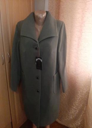 Пальто оливкоке 54
