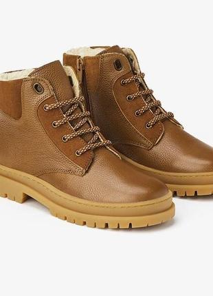 Кожаные ботинки zara, размер 36