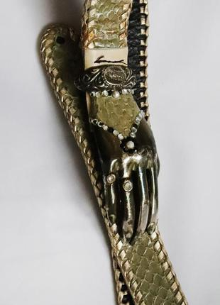 Дизайнерский пояс robert christoph  подписной кожа змеи серебро швейцария