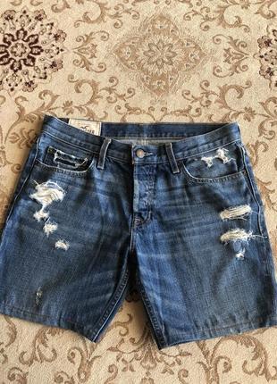 Джинсовые шорты hollister