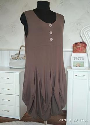 Стильный сарафан платье в стиле бохо, размер 50-52-54.