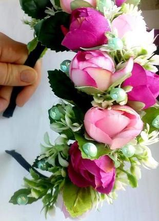 Обруч из цветов
