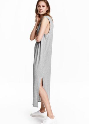 Длинное платье джерси от h&m