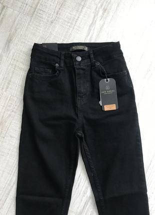 Чорні джинси з високою посадкою , турція4 фото