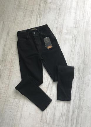 Чорні джинси з високою посадкою , турція6 фото