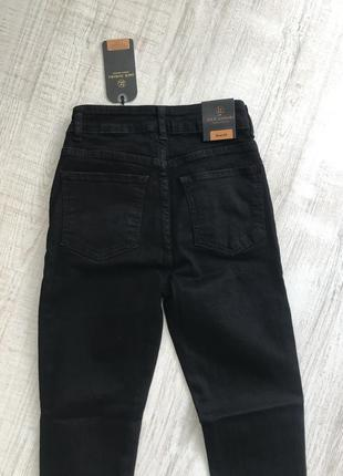 Чорні джинси з високою посадкою , турція7 фото