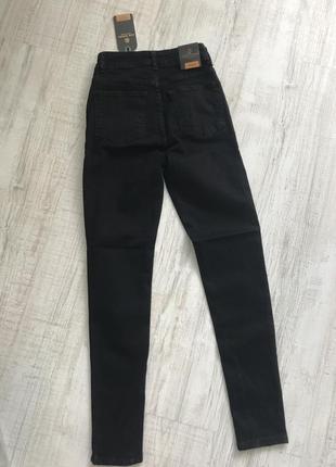 Чорні джинси з високою посадкою , турція8 фото