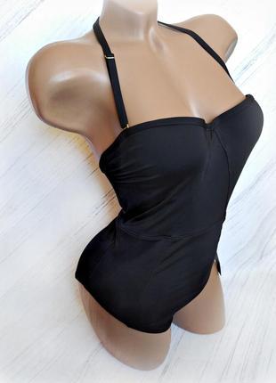 Идеальный черный сдельный купальник от next size 32 a/b eur 70 a/b