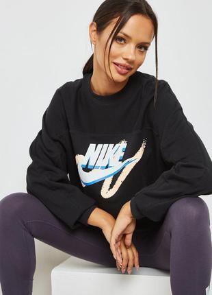 Новый свитшот nike оверсайз в яркий принт, пуловер, реглан, світшот