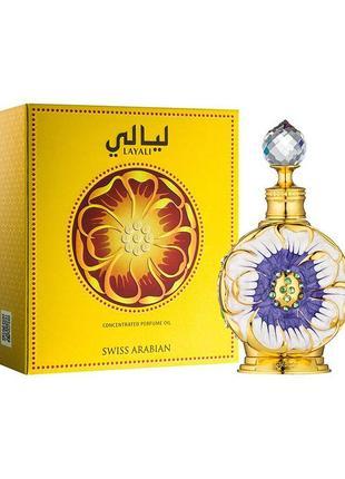 Layali, swiss arabian, масло, концентрированные духи, 15 мл, оаэ