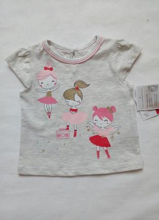 Трикотажная футболка для девочки c&a р.62