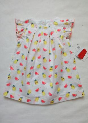 Хлопковое платье для девочки c&a р. 74