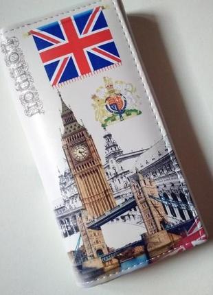 Новый длинный большой кошелек клатч винтажный лондон london винтаж англия