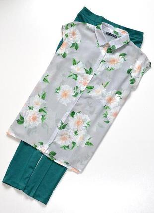 Красивая блуза в цветочный принт