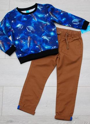 Комплект, костюм свитшот и штаны джоггеры little kids pepco 110