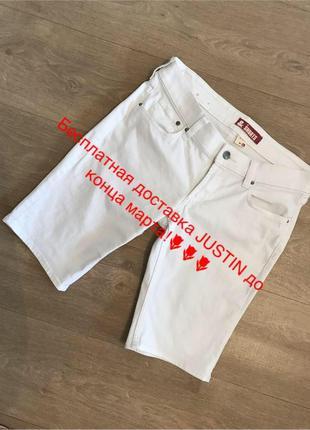Белые джинсовые шорты h&m, р.28