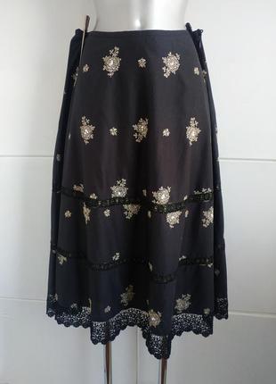 Нарядная юбка laura ashley а-силуэта с красивым кружевом