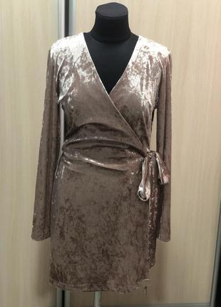Платье- халат из велюра !