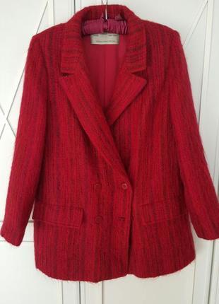 Жакет пиджак пальто из шерсти и мохера премиум бренда jaeger