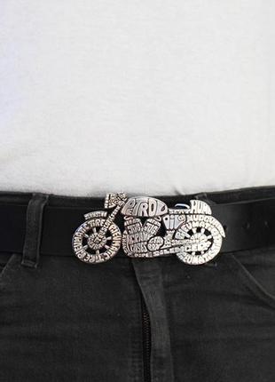 Кожаный ремень с бляхой, мужской кожаный ремень, мужской кожаный ремень с бляхой мотоцикл