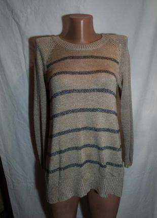 Крутой свитер в полоскуиз акрила и вискозы marks&spencer