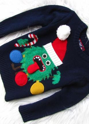 Стильный светящаяся кофта свитшот свитер christmas  новогодний свитер санта новый год