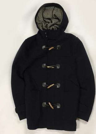 F9 пальто темно-синее topman плащ ветровка куртка