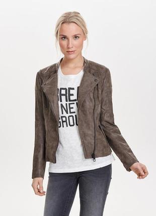 Крутая куртка косуха под нубук под кожу от only (германия)