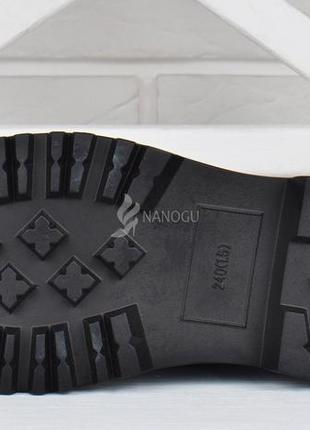 Туфли женские на платформе dr.martens style мартенсы стиль черные лакированные3 фото