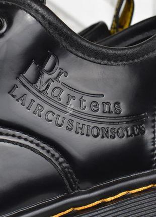 Туфли женские на платформе dr.martens style мартенсы стиль черные лакированные7 фото