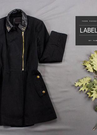 Пальто черное на молнии /atmosphere/