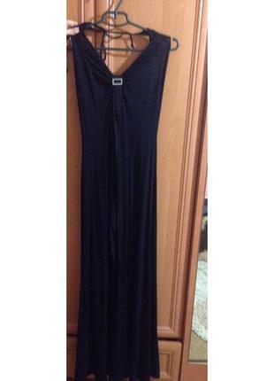 Чёрное длинное вечернее платье ✨