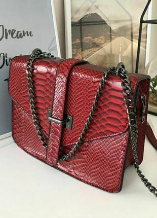 Женская кожаная сумка эко сумочка клатч