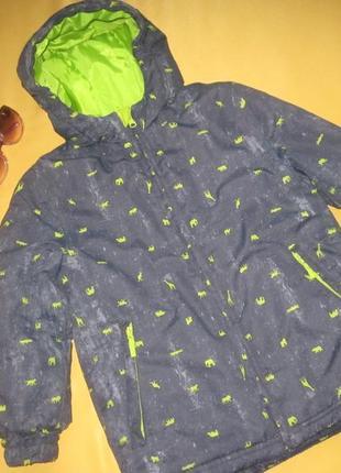 Водонепроницаемая качественная курточка унисекс,осень-зима,р.122,c&a