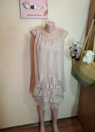 Платье из натурального шелка размер s/m италия