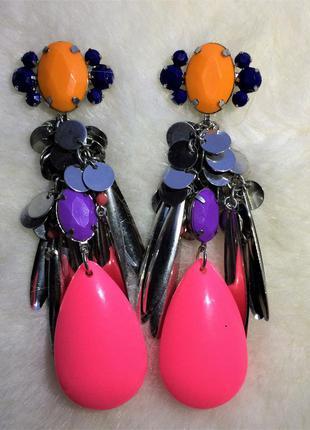 Красочные сережки h&m
