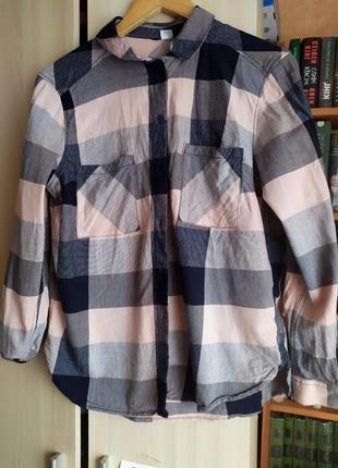 Рубашка в клетку  12-14 р