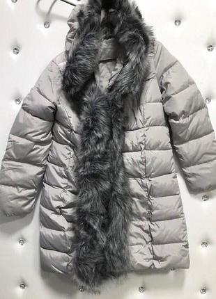 Куртка с мехом по всей длине