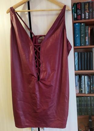 Эротические коданое платье со шнуровками