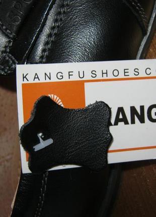 Кожаные туфли-мокасины kangfu