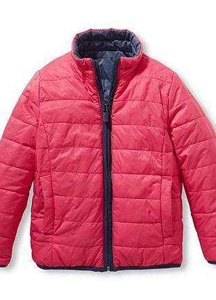 Демисезонная куртка - стеганая, двухсторонняя - tchibo, германия - р. 110-116