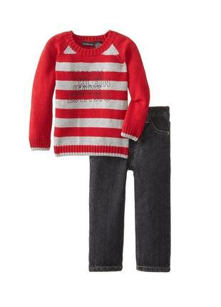 Комплект для мальчика джинсы и свитер calvin klein sale