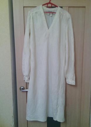 Винтажное льняное платье pret-a-porter