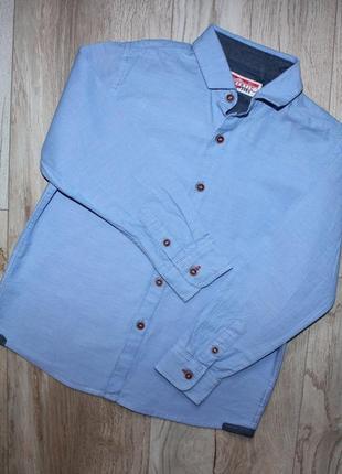 Рубашка сорочка нарядная стильная голубая некст next 5 лет, рост 110 см.
