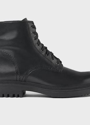 Мужские кожаные ботинки zara, размер 44