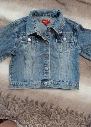 Джинсова куртка для дівчинки 4-5р.