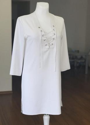 Платье-туника со шнуровкой other stories