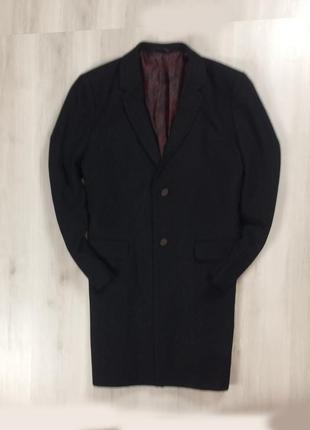 F9 пальто черное burton 54%wool черное ветровка шерстяное шерсть овечья
