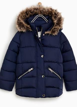 Зимняя куртка от zara на 10 лет